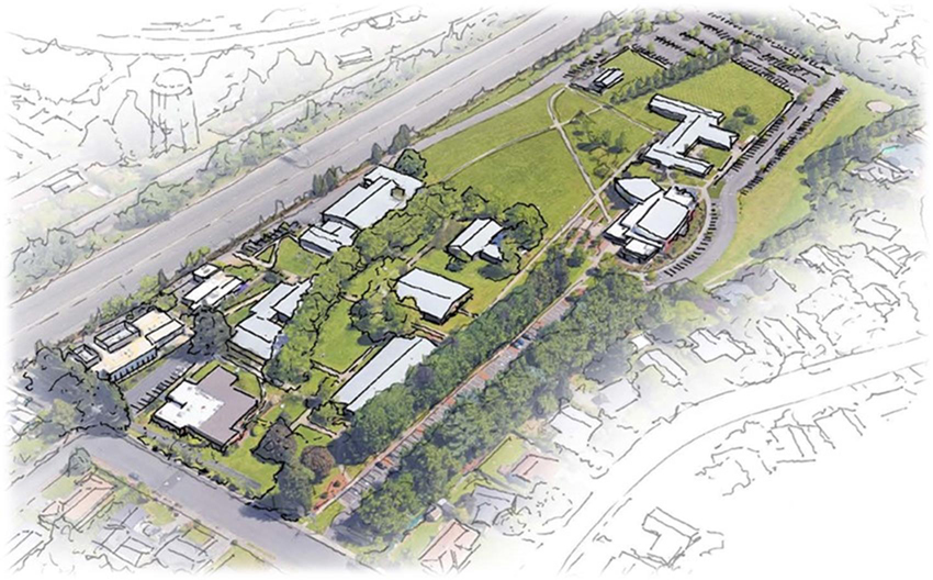 sketch of the new Portland campus